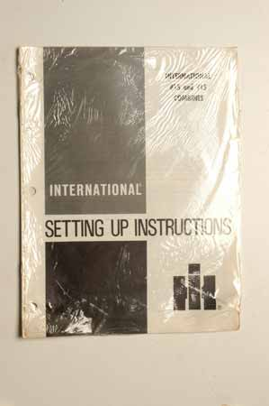 International Combine Setting Up Instruction