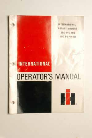 IH Operator's MANUAL International Rotary Mowers 38C, 44C And 50C 3- Spindle