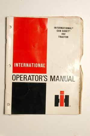 IH Operator's MANUAL International Cub Cadet 482 Tractor