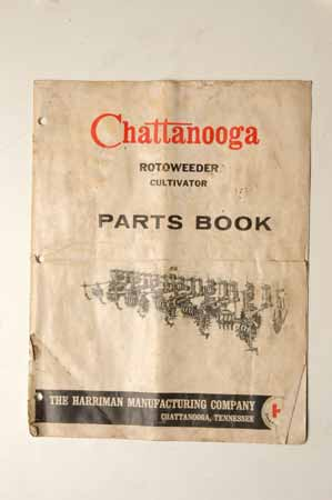 Chattanooga rotoweeder cultivator parts book