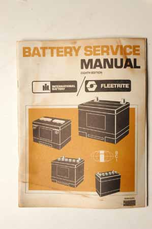 Battery Service Manual International Fleetrite
