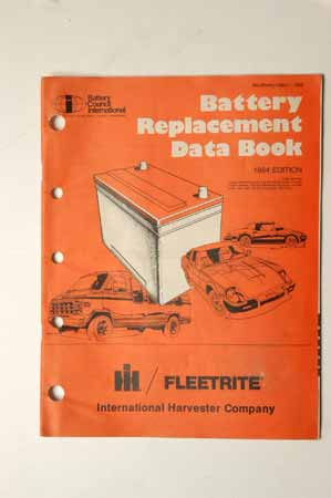 Battery  Replacement Data Book Fleetrite