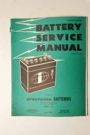 Battery Service Manual Prestolite