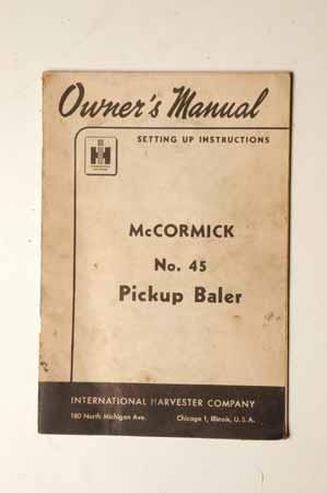 McCormick No. 45 Pickup Baler