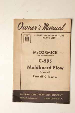 McCormick C-295 Moldboard Plow