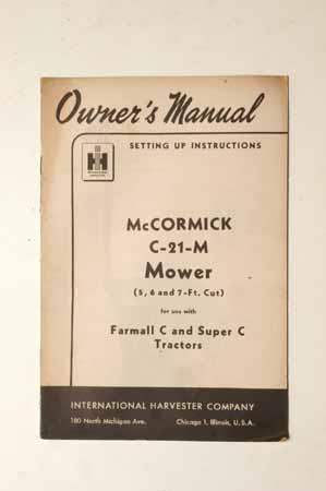 McCormick C-21-M mower