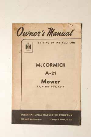 McCormick A-21 Mower