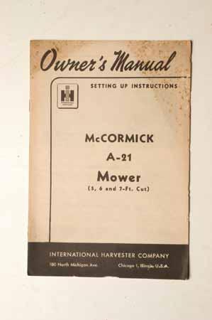 McCormick A-21 Mowers