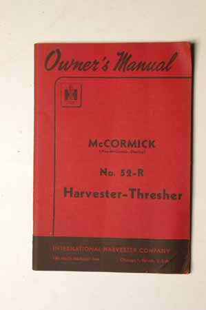 McCormick No. 52-R Harvester-Thresher