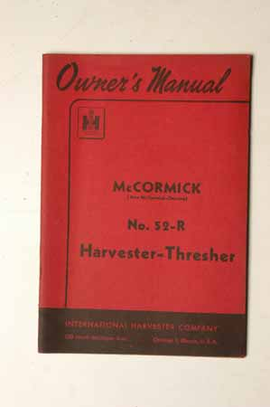McCormick No.52-R Harvester Thresher