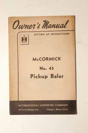 McCormick No.45 Pickup Baler