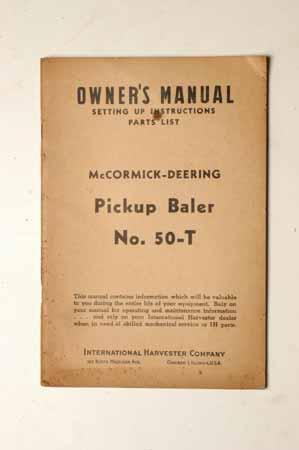 McCormick No.50-T Pickup Baler
