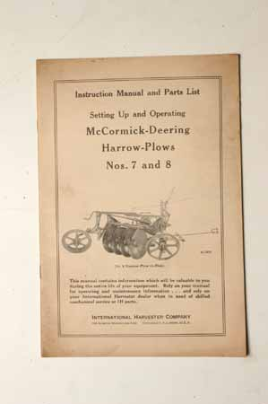 Setting up Manual McCormick- Deering  Harrow-Plows No. 7 and 8