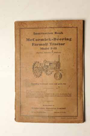 Owner's Manual McCormick- Deering Tractor Model F-12