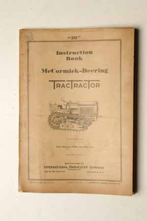 Owner's Manual McCormick- Deering TractTracTor