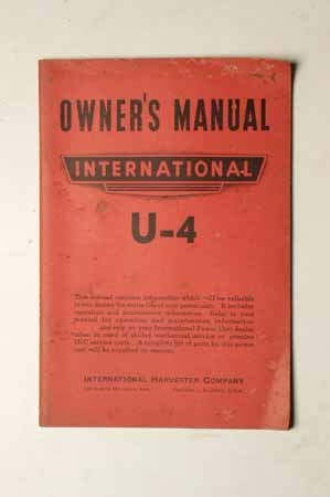 International U-4 Owner's manual