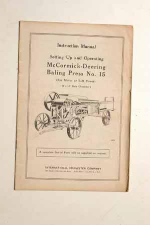McCormick-Deering baling Press No. 15