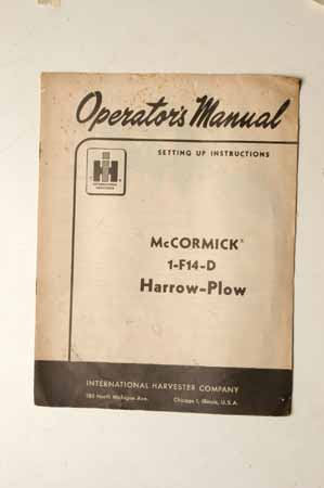 McCormick 1-F14-D Harrow-Plow