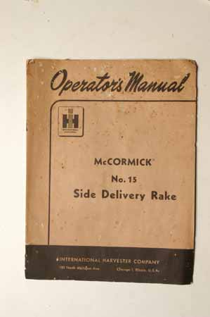McCormick No.15 Side Delivery rake