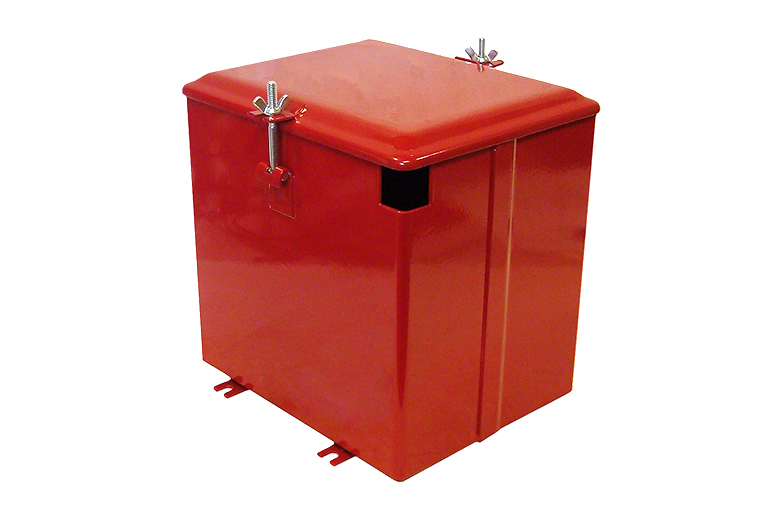 BATTERY BOX With LID For Farmall: C, Super C, Super A, Super A-1, Super AV, Super AV1.