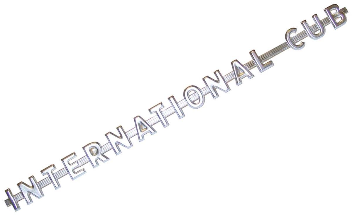 SIDE EMBLEM - INTERNATIONAL CUB