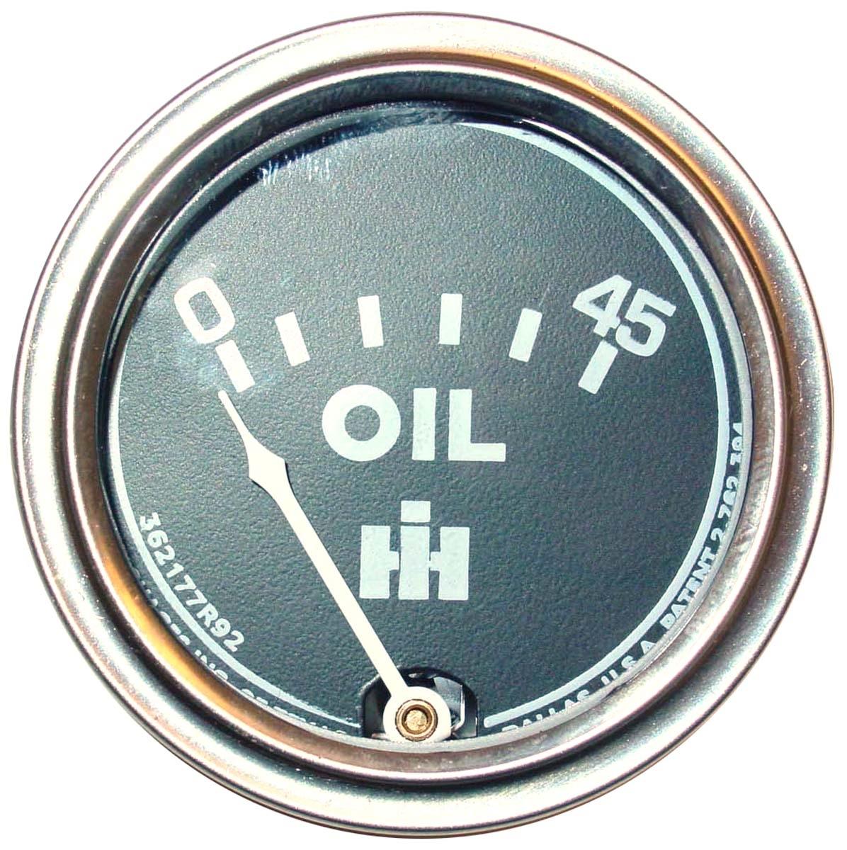 OIL PRESSURE GAUGE- 0-45lbs  - Farmall oil Gauge 350, 400, 450, 460, 560, 600, 650, 660, 3616 240, etc.