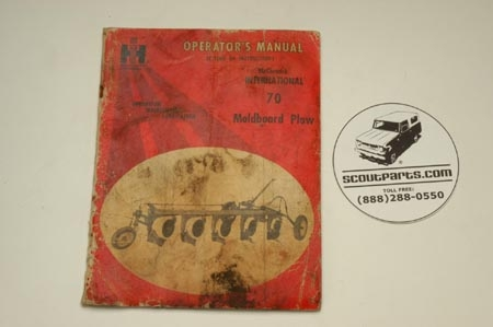 Original Operators Manual For Moldboard Plows.