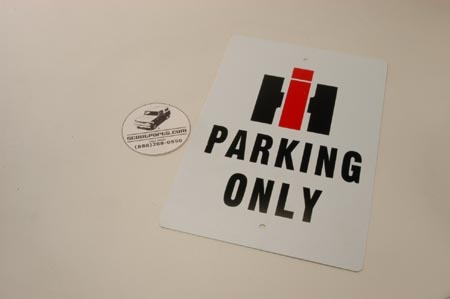 IH Only Parking Sign,