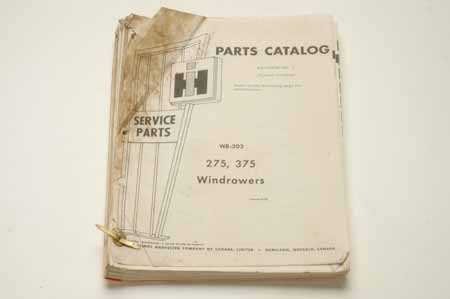 WR-203 Parts Catalog Windrowers 275, 375