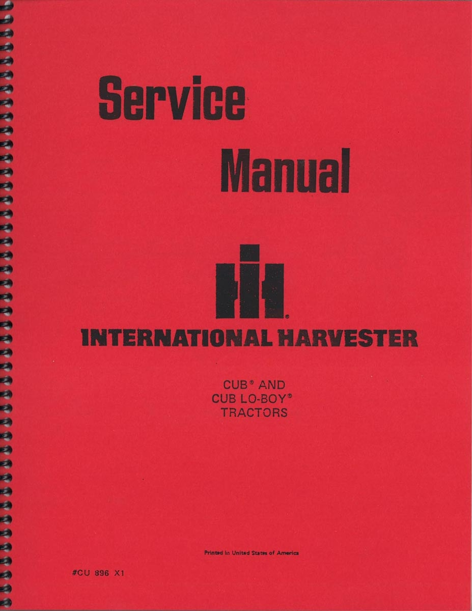 SERVICE MANUAL -  CUB, CUB LO-BOY