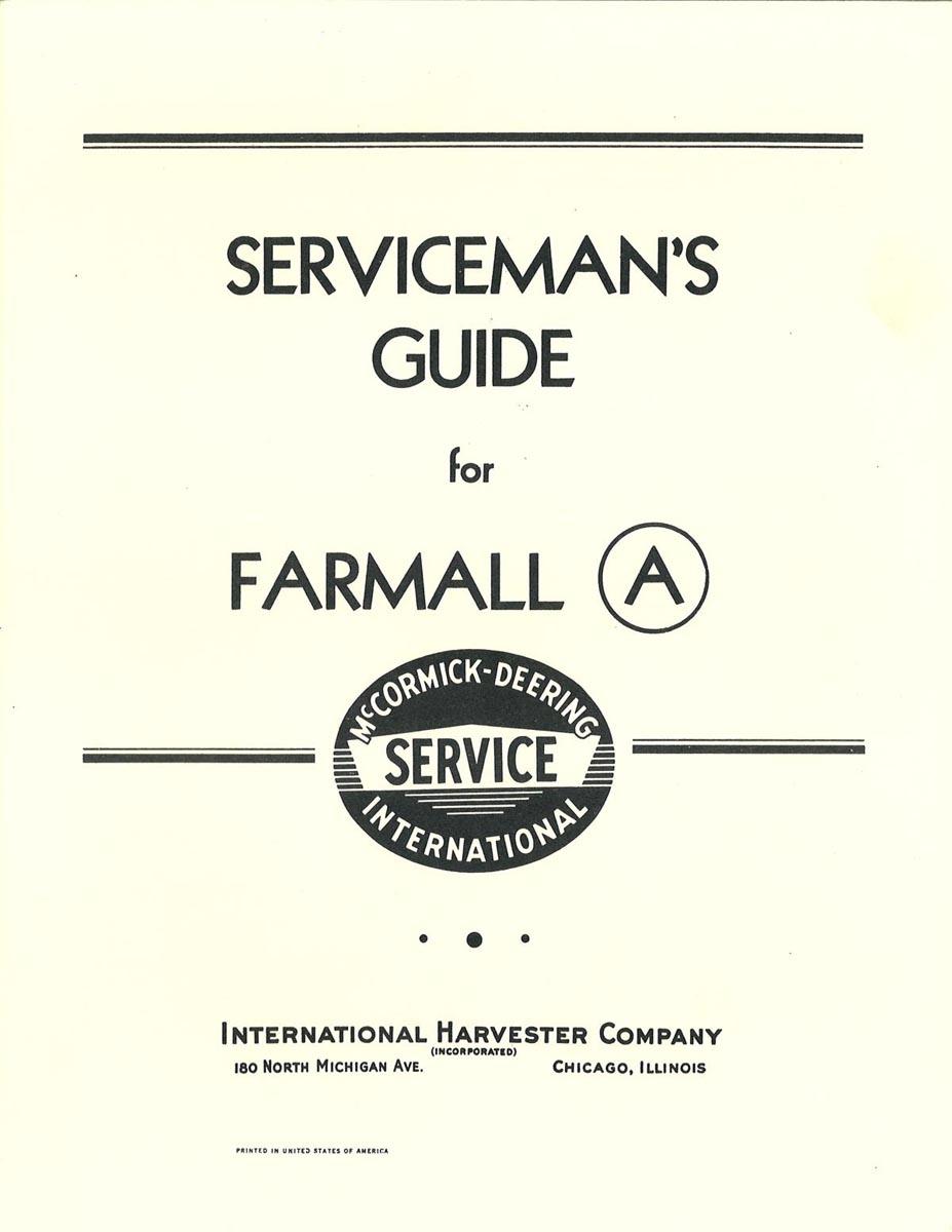 SERVICEMAN'S MANUAL