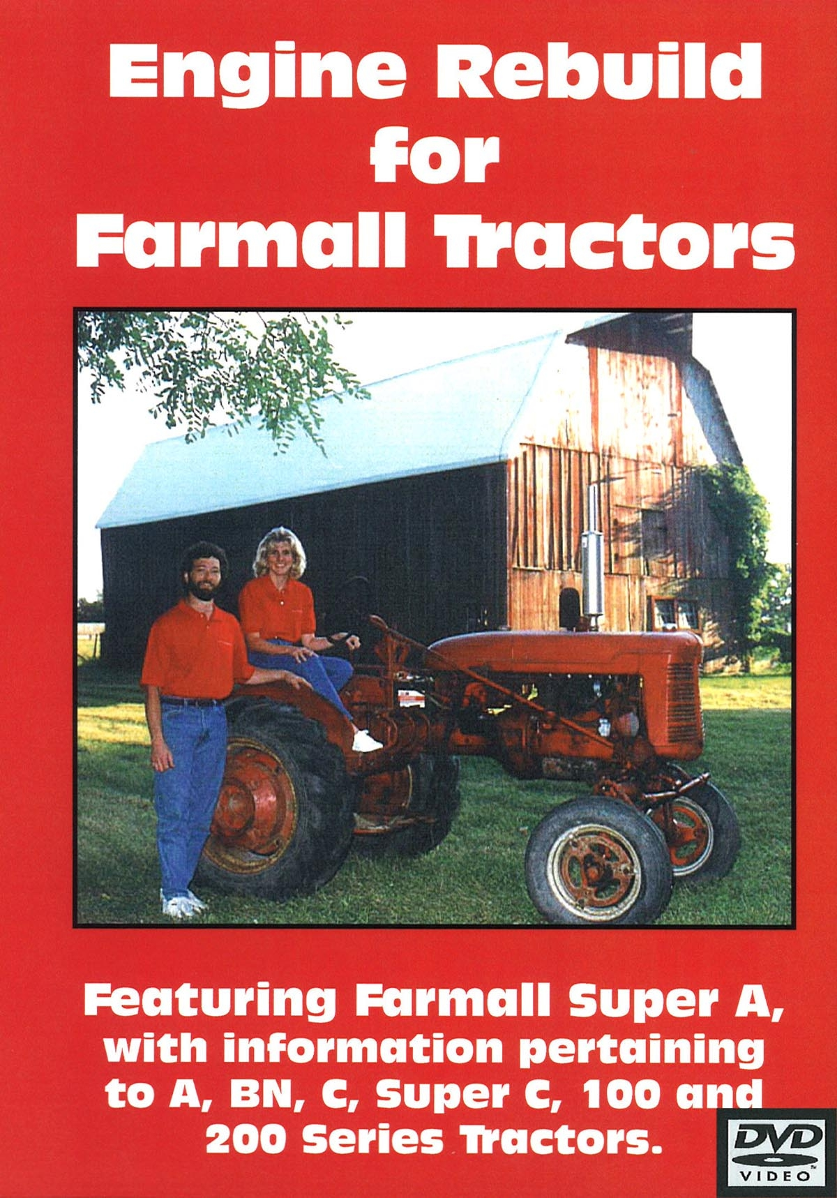 FARMALL A ENGINE REBUILD VIDEO (DVD) - Farmall A, C, SUPER A, SUPER C