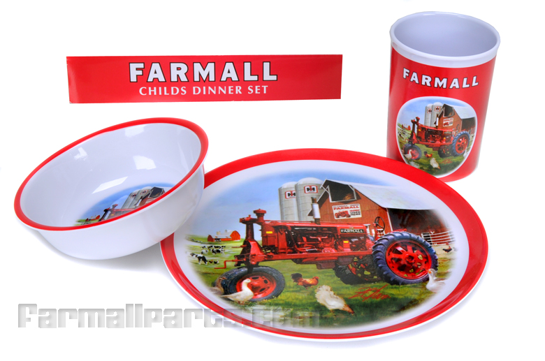 Farmall Child's Dinner Set - plate bowl and cup.