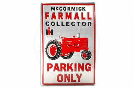 discontinued**Farmall Collector Metal Parking Sign