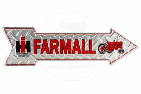 Farmall Arrow Metal Sign
