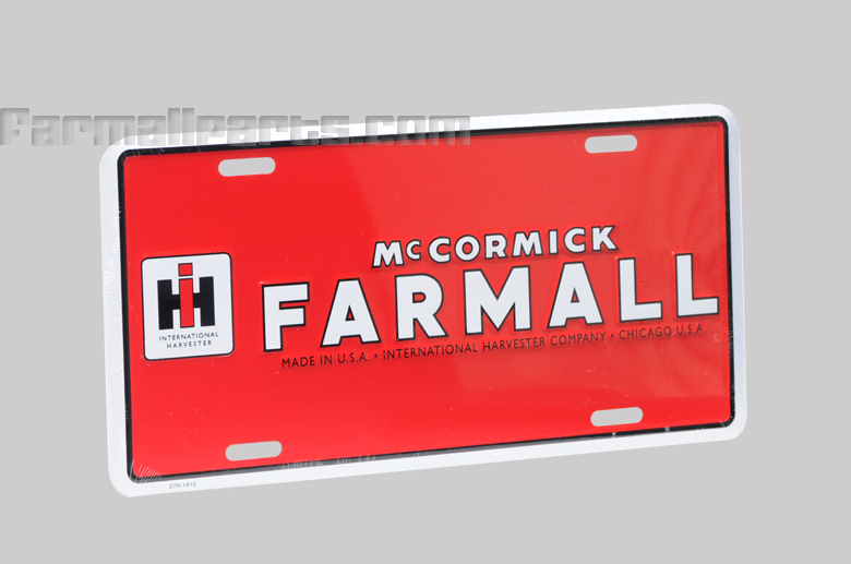 Red McCormick Farmall License Plate -  Final few available