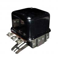 12v, Dual Polarity, Two-Unit Type, A-Circuit, 3-Terminal. Terminals are: BAT-GEN-FLD, GRD (base). Regulator for gas applications. Part Reference Numbers: A20792 Fits Models: 1010 COMBINE; 1030 TRACTOR; 1060 COMBINE; 700; 730 SWATHER/WINDROWER; 800; 830; 900; 920; 930; 930CK
