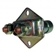 Manual starter switch, 6 or 12 volt, single pull, single throw (SPST) . Two (2)-position, two (2) terminal. 100 amp capacity. Mount hole 7/8. Part Reference Numbers: 1996487;356913R91;64931H;DR405C Fits Models: H; HV; M; MD; MDV; MV; Super M; SUPER MD; SUPER MTA