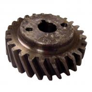 Hydraulic pump gear for diesel applications. Part Reference Numbers: 704331R1;704331R91 Fits Models: 2424 INDUST/CONST; 2444 INDUST/CONST; 354 TRACTOR; 364 TRACTOR; 384 TRACTOR; 424 TRACTOR; 444 INDUST/CONST; 93 COMBINE; B275; B414; BD144A ENG; BD154 ENG