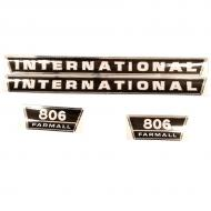 806 International Harvester Hood Decal Set Fits Models: 806