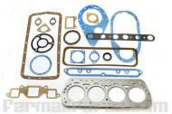 Full Gasket set 10-20, F30, W30.   International F30, W30  Set includes; oil filter body, thermostat housing, oil pan, carburetor mounting, water inlet elbow, timing cover plate,timing cover, tank inlet, push rod cover, head, manifold, exhuast pipe flange, exhaust to intake manifold, timing cover seal, rear main bearing seal, water outlet gaskets