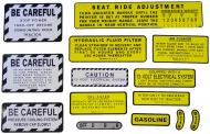 MYLAR MISC DECAL SET -- 13 PIECES --- SPECIAL ORDER ONLY. ALLOW ONE ADDITIONAL WEEK FOR DELIVERY CAUTION: INSPECT ALL DECAL PIECES BEFORE APPLYING TO TRACTOR. NO REFUNDS ON MYLAR DECALS IF APPLIED TO SURFACE AND / OR IF DAMAGED. NO REFUNDS ON VINYL CUT DECALS. STORE IN A COOL, DRY PLACE. D --- International Applications: IH/FARMALL 560, 660 GAS