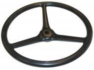 STEERING WHEEL --- 16 DIA., 3 COVERED TO CENTER SPOKES --- 3/4 KEYED SHAFT --- LIKE ORIGINAL, ALL NEW MATERIAL, STEEL SPOKES --- International Applications: LATE O12 & O14, LATE I12 & I14, LATE W12, LATE W14, LATE F12, F14 (BOTH 1938-1939); EARLY A, AV, B, BN (TO MID 1940); WILL ALSO FIT LATE F20 & F30 (BOTH 1937) M, MD, MDV, MV, H, HV (1939-MID 1940) IF 16 DIA WHEEL IS DESIRED --- Replacement Part #: 29118DC