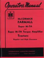 OPERATORS MANUAL --- MADE IN USA --- 104 PAGES --- LICENSED REPRINT OR ORIGINAL --- International Applications: SUPER MTA GAS --- Replacement Part #: 1004374