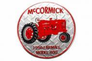 International Harvester Farmall Round '56 Model 400 Metal Sign