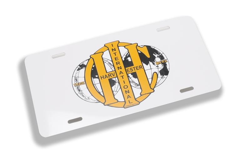 IHC Double Globe License Plate
